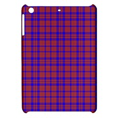 Pattern Plaid Geometric Red Blue Apple Ipad Mini Hardshell Case by Simbadda