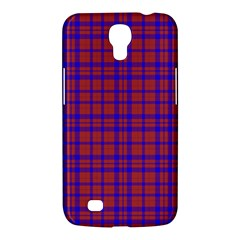 Pattern Plaid Geometric Red Blue Samsung Galaxy Mega 6 3  I9200 Hardshell Case by Simbadda