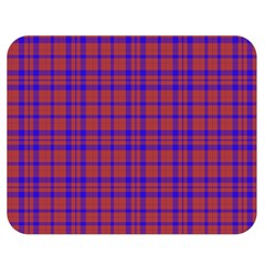 Pattern Plaid Geometric Red Blue Double Sided Flano Blanket (medium)  by Simbadda