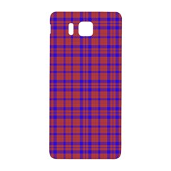 Pattern Plaid Geometric Red Blue Samsung Galaxy Alpha Hardshell Back Case by Simbadda