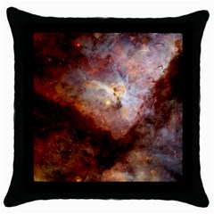 Carina Nebula Throw Pillow Case (black) by SpaceShop