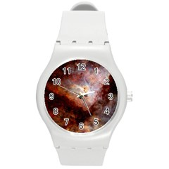 Carina Nebula Round Plastic Sport Watch (m) by SpaceShop