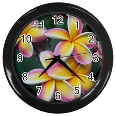 Premier Mix Flower Wall Clocks (black) by alohaA