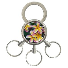 Premier Mix Flower 3 Ring Key Chains by alohaA
