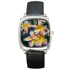 Premier Mix Flower Square Metal Watch by alohaA