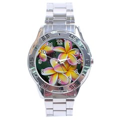 Premier Mix Flower Stainless Steel Analogue Watch by alohaA