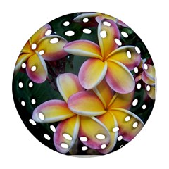 Premier Mix Flower Round Filigree Ornament (two Sides) by alohaA