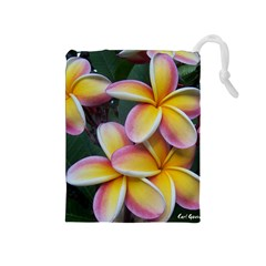 Premier Mix Flower Drawstring Pouches (medium)  by alohaA