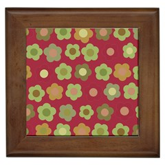 Floral Pattern Framed Tiles by Valentinaart