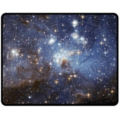 Large Magellanic Cloud Double Sided Fleece Blanket (medium)  by SpaceShop