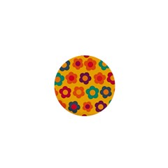 Floral Pattern 1  Mini Magnets by Valentinaart