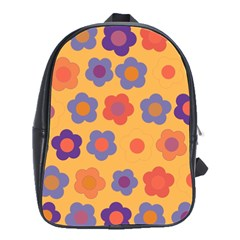 Floral Pattern School Bags(large)  by Valentinaart