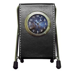 Large Magellanic Cloud Pen Holder Desk Clocks by SpaceShop