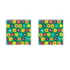 Floral Pattern Cufflinks (square) by Valentinaart