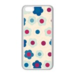 Floral pattern Apple iPhone 5C Seamless Case (White) Front