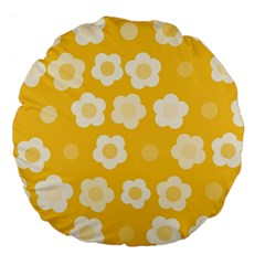 Floral Pattern Large 18  Premium Flano Round Cushions