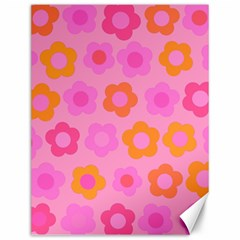 Pink Floral Pattern Canvas 12  X 16   by Valentinaart