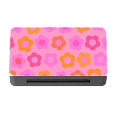 Pink Floral Pattern Memory Card Reader With Cf by Valentinaart