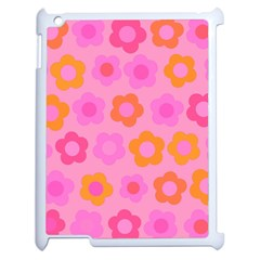 Pink Floral Pattern Apple Ipad 2 Case (white) by Valentinaart