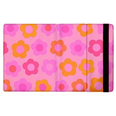 Pink Floral Pattern Apple Ipad 2 Flip Case by Valentinaart