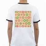 Floral pattern Ringer T-Shirts Back