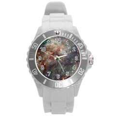 Tarantula Nebula Round Plastic Sport Watch (l) by SpaceShop