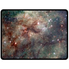 Tarantula Nebula Double Sided Fleece Blanket (large)  by SpaceShop