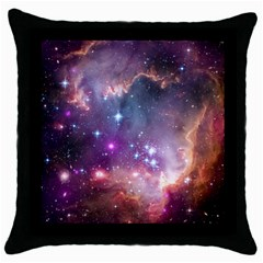 Small Magellanic Cloud Throw Pillow Case (black) by SpaceShop