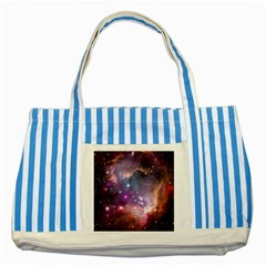 Small Magellanic Cloud Striped Blue Tote Bag by SpaceShop