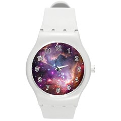 Small Magellanic Cloud Round Plastic Sport Watch (m) by SpaceShop