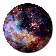 Celestial Fireworks Round Mousepads by SpaceShop