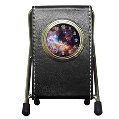 Celestial Fireworks Pen Holder Desk Clocks by SpaceShop