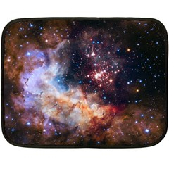 Celestial Fireworks Double Sided Fleece Blanket (mini)  by SpaceShop