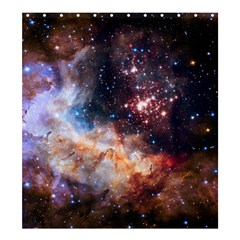 Celestial Fireworks Shower Curtain 66  X 72  (large)  by SpaceShop