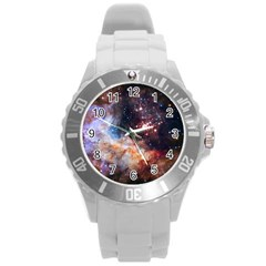 Celestial Fireworks Round Plastic Sport Watch (l) by SpaceShop