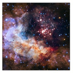 Celestial Fireworks Large Satin Scarf (square) by SpaceShop