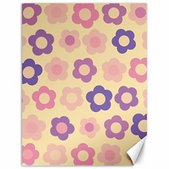 Floral Pattern Canvas 12  X 16