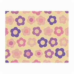 Floral Pattern Small Glasses Cloth (2 Side) by Valentinaart