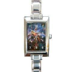 Pillar And Jets Rectangle Italian Charm Watch by SpaceShop