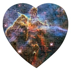 Pillar And Jets Jigsaw Puzzle (heart) by SpaceShop