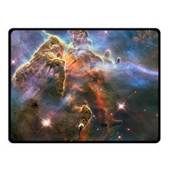 Pillar And Jets Double Sided Fleece Blanket (small)  by SpaceShop