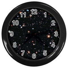 Extreme Deep Field Wall Clocks (black) by SpaceShop
