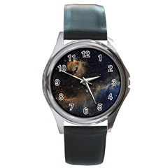 Seagull Nebula Round Metal Watch by SpaceShop