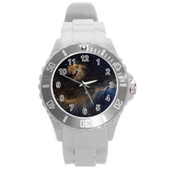 Seagull Nebula Round Plastic Sport Watch (l) by SpaceShop
