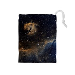 Seagull Nebula Drawstring Pouches (medium)  by SpaceShop