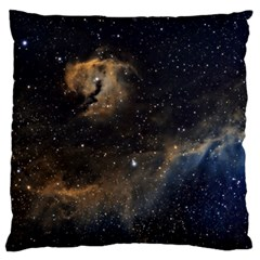 Seagull Nebula Large Flano Cushion Case (one Side) by SpaceShop