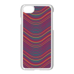 Pattern Apple Iphone 7 Seamless Case (white) by Valentinaart