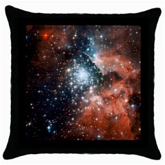 Star Cluster Throw Pillow Case (black) by SpaceShop