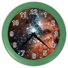 Star Cluster Color Wall Clocks by SpaceShop