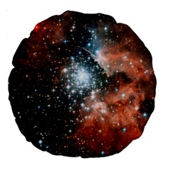 Star Cluster Large 18  Premium Round Cushions by SpaceShop